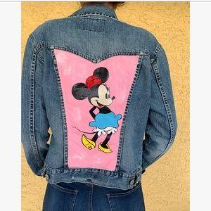 Minnie Mouse Denim Jean Jacket graphic handpainted